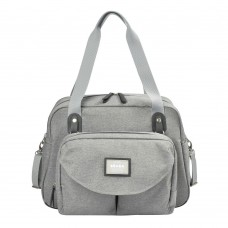 Сумка для мамы Geneva Beaba Heather Grey, серая